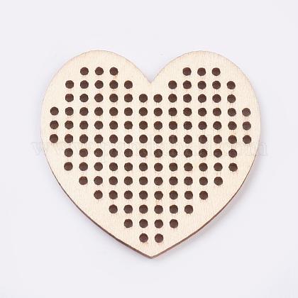 木製針クロスステッチ刺繍ブランクディスクWOOD-L006-22-1