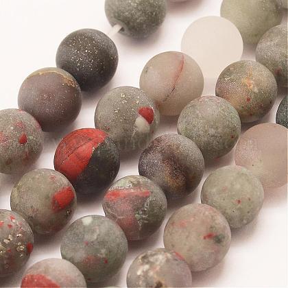 Naturales africanos abalorios bloodstone hebrasG-P295-05-10mm-1