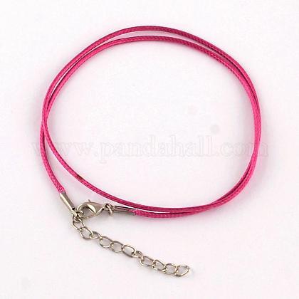 Algodón encerado el collar del cordónMAK-S032-1.5mm-138-1