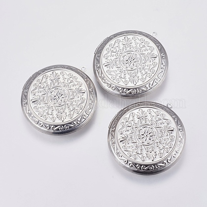 Colgantes de 304 acero inoxidable Locket STAS-P225-002P-1