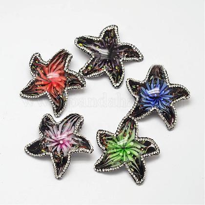 Colgantes de rhinestone de cristal hechos a manoFOIL-M015-07-1
