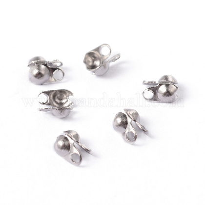304 Stainless Steel Smooth Surface Bead TipsSTAS-D150-01P-1