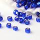 Perles de rocaille rondes en verre fgb® 12/0 transparentes argentéesSEED-A022-F12-74-1