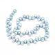 Hilos de perlas de agua dulce cultivadas naturales teñidasPEAR-L021-13-2