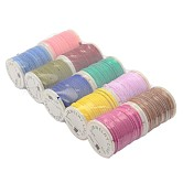 Faux Suede Cord, Faux Suede Lace for Jewelry Making, Mixed Color, 2x1mm; 10rolls/batch, 3m/roll