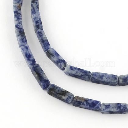 キューブ天然のブルースポット天然石ビーズ連売りG-R299-04-1
