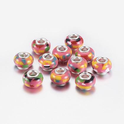 Abalorios europeos de resina rondelle gran agujeroRPDL-P003-C002-1