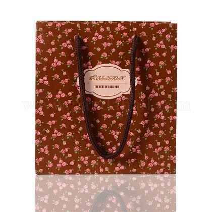 Bolsas de papel rosa impresas rectangularesCARB-F001-07A-1
