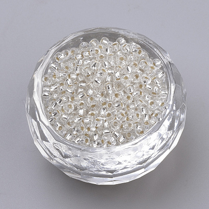 Fgb®6/0透明な銀の裏地が付いた丸いガラスシードビーズSEED-A022-F6-34-1
