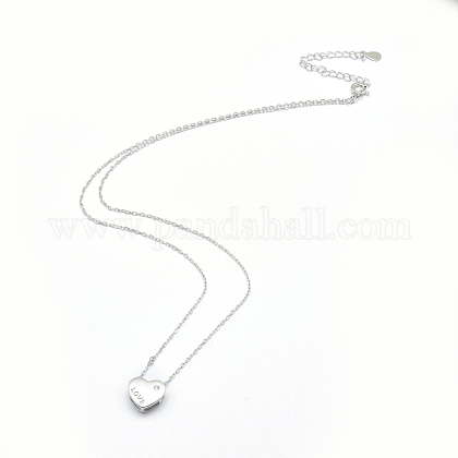 Collares pendientes de plata de ley 925NJEW-F246-02P-1