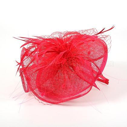 結婚式のためのエレガントな濃いピンクfascinators英国OHAR-S170-04-1