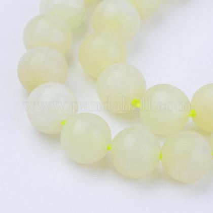 Chapelets de perles en jaspe à pois verts naturelsG-Q462-8mm-40-1