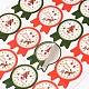 Patrón de la divisa de la etiqueta DIY pegatinas ilustradas parche para la NavidadAJEW-L053-11-2