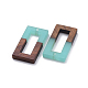 Colgantes de resina y madera de nogal de 8 coloresRESI-X0001-33-2