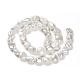 Hebras de perlas keshi de perlas barrocas naturalesPEAR-K004-33-2