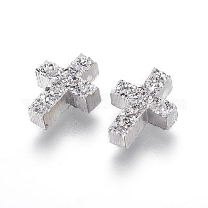 Perlas de resina de piedras preciosas druzy imitaciónRESI-L026-F04-1