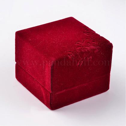 Квадратные бархатные кольцаVBOX-D004-01-1