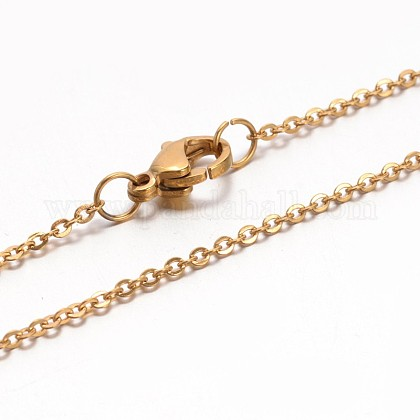 Collares de cadena de cable 304 acero inoxidableNJEW-E026-04G-D-1