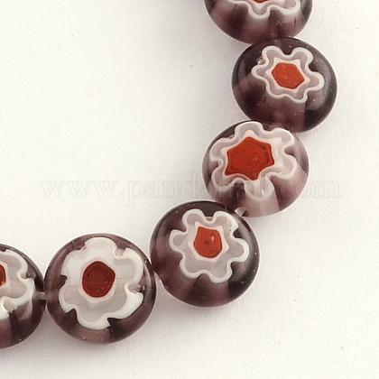 Hilos de abalorios de vidrio millefiori artesanalLK-R006-15F-1