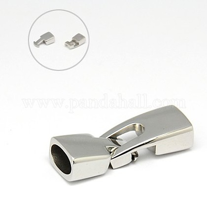 304 Stainless Steel Snap Lock Clasps STAS-I011-18-1