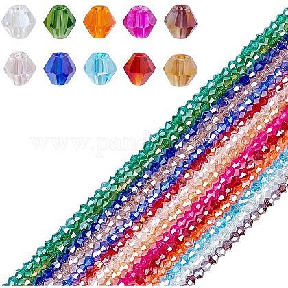 AHANDMAKER Electroplate Glass BeadsEGLA-PH0003-22-1