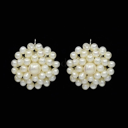 Colgantes naturales de perlas cultivadas de agua dulcePEAR-N005-02B-1