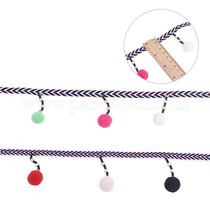 Nbeads que cuelgan la decoración de la borla del hilo de lanaHJEW-NB0001-08-1