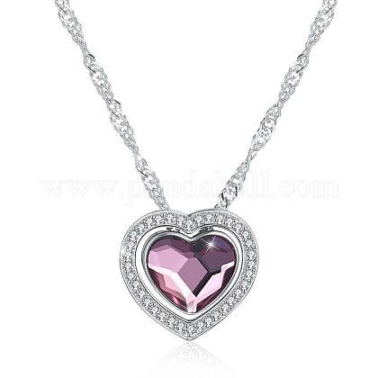 925 Sterling Silver Pendant Necklaces NJEW-BB30719-1