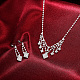 Shining Brass Rhinestone Wedding Bride Jewelry Sets SJEW-BB15888-7