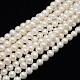 Hebras de perlas de agua dulce cultivadas naturales de grado aaaPEAR-L001-G-13-1