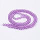 Chapelets de perles en verre mateGGB8MMY-DKM-2