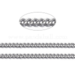 Brass Twisted Chains, Curb Chains, Diamond Cut, Soldered, with Spool, Oval, Lead Free & Nickel Free & Cadmium Free, Platinum, 1.5x1x0.35mm; about 92m/roll