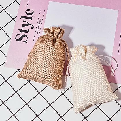 黄麻布ラッピングポーチ巾着袋ABAG-BC0001-08-14x10-1