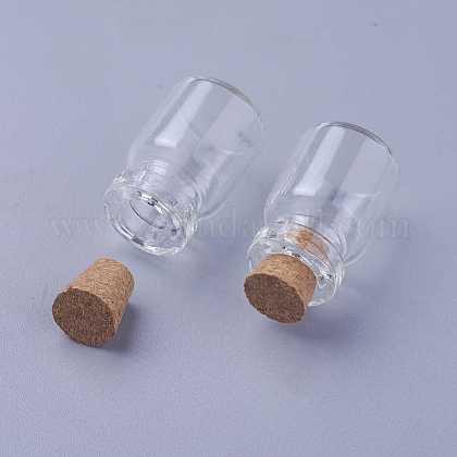 Mini Cute Small Glass Jar Glass BottlesAJEW-H004-5-1