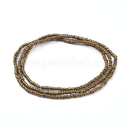 Glass Seed Beads Chain BeltsNJEW-C00007-02-1