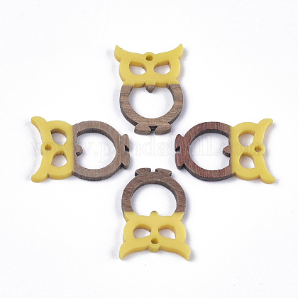 Colgantes de resina y madera de nogalRESI-S358-38A-1