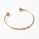 Fashion 304 Stainless Steel Cuff Bangles Torque BanglesBJEW-H473-01G-2