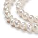 Hebras de perlas de perlas de agua dulce cultivadas naturales de papaPEAR-E007-4-5mm-3