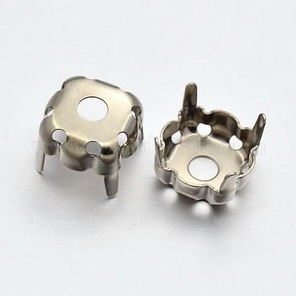 Square Brass Rhinestone Claw SettingsKK-O084-05-12x12mm-1