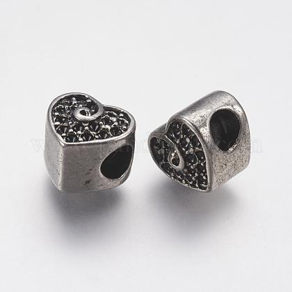 304 Stainless Steel European Beads Rhinestone SettingsSTAS-J022-141AS-1