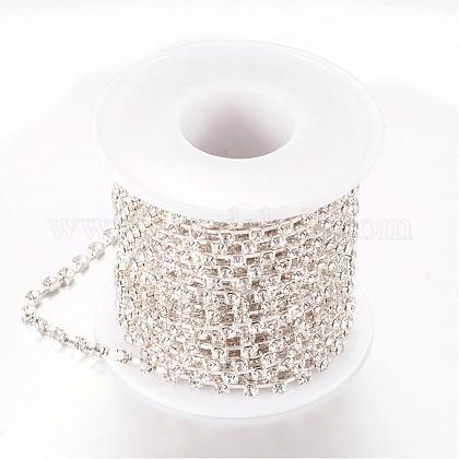 Cadenas de strass Diamante de imitación de bronceCHC-T002-SS10-01S-1