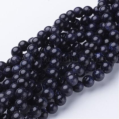 Synthetic Blue Goldstone Beads StrandsGSR053-1