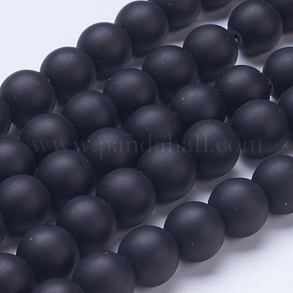 Perles en verre dépoli G-D855-03-12mm-1