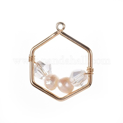 Colgantes naturales de perlas cultivadas de agua dulcePALLOY-JF00387-1