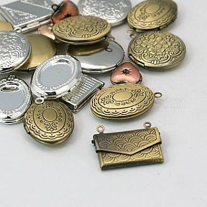 Colgantes de latón medallónKK-MSMC002-M1-1