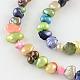 Hebras de perlas de perlas de agua dulce cultivadas naturales teñidas de papaPEAR-R012-19-1