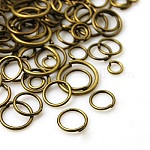 Iron Jump Rings, Close but Unsoldered, Mixed Size, Antique Bronze, 4~10x0.7~1mm18~21 Gauge,