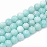 Natural Amazonite Beads Strands, Round, 6~7mm, Hole: 1mm; about 60~67pcs/strand, 15.7