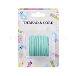 Flat Faux Suede Cord, Faux Suede Lace, Aquamarine, 3x1.5mm; about 5m/roll