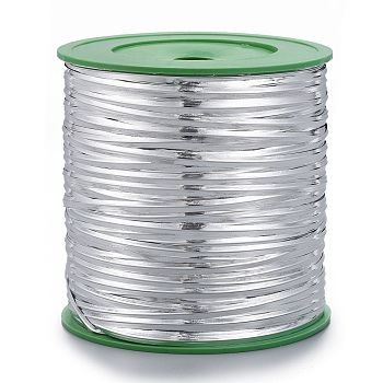 Wire Twist Ties, with Iron, Silver, 4mm, 280yards/roll